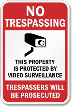 video camera surveillance sign